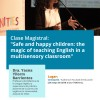"Imagen Clase Magistral: ""Safe and happy children: the magic of teaching English in a multisensory classroom"""