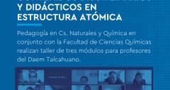Imagen Inician talleres sobre estructura atómica para profesores del Daem Talcahuano