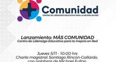 Imagen Centro de Liderazgo Educativo UdeC: +Comunidad se inaugura este jueves