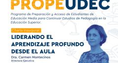 Imagen Ceremonia de Lanzamiento: PropeUdeC busca fortalecer la motivación para estudiar Pedagogías en los estudiantes de Educación Media