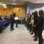 Imagen Estudiantes de quinto año reciben certificación en Convivencia Escolar