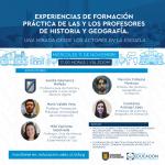 Imagen Pedagogía en Historia y Geografía realiza conversatorio sobre la formación práctica