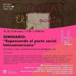 """Imagen Finalizan las tres jornadas del Seminario: """"Repensando el pacto social latinoamericano"""""""