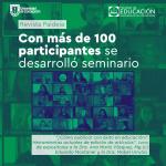 Imagen Seminario de Revista Paideia se realiza con alta asistencia
