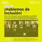 Imagen ¡Hablemos de Inclusión! abordó conceptos y barreras en torno a la temática