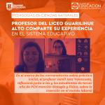 Imagen Profesor del Liceo Guarilihue Alto comparte su experiencia en el sistema educativo