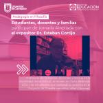 Imagen Estudiantes, docentes y familias participan de Jornada Ampliada con el expositor Dr. Esteban Cortijo