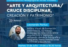 Pedagogía en Artes Visuales realiza conversatorio sobre Arte y Arquitectura