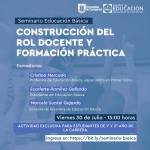 """Imagen Educación Básica realiza seminario sobre """"Construcción del rol docente y formación práctica"""""""