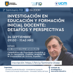 Imagen Segundo Seminario FID: Busca difundir la labor investigativa en temas educativos a diferentes sectores y agentes de la sociedad
