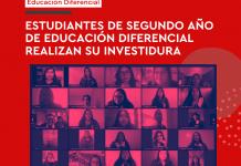 Estudiantes de segundo año de Educación Diferencial realizan su investidura