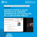 Imagen Docente Marcela Palma expone en el Segundo Seminario de Actualización de la Educación Pública
