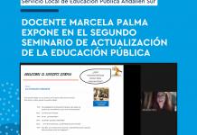 Docente Marcela Palma expone en el Segundo Seminario de Actualización de la Educación Pública