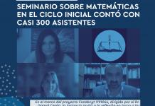 Seminario sobre Matemáticas en el Ciclo Inicial contó con casi 300 asistentes